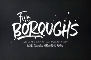 Five Boroughs Brush Font Family