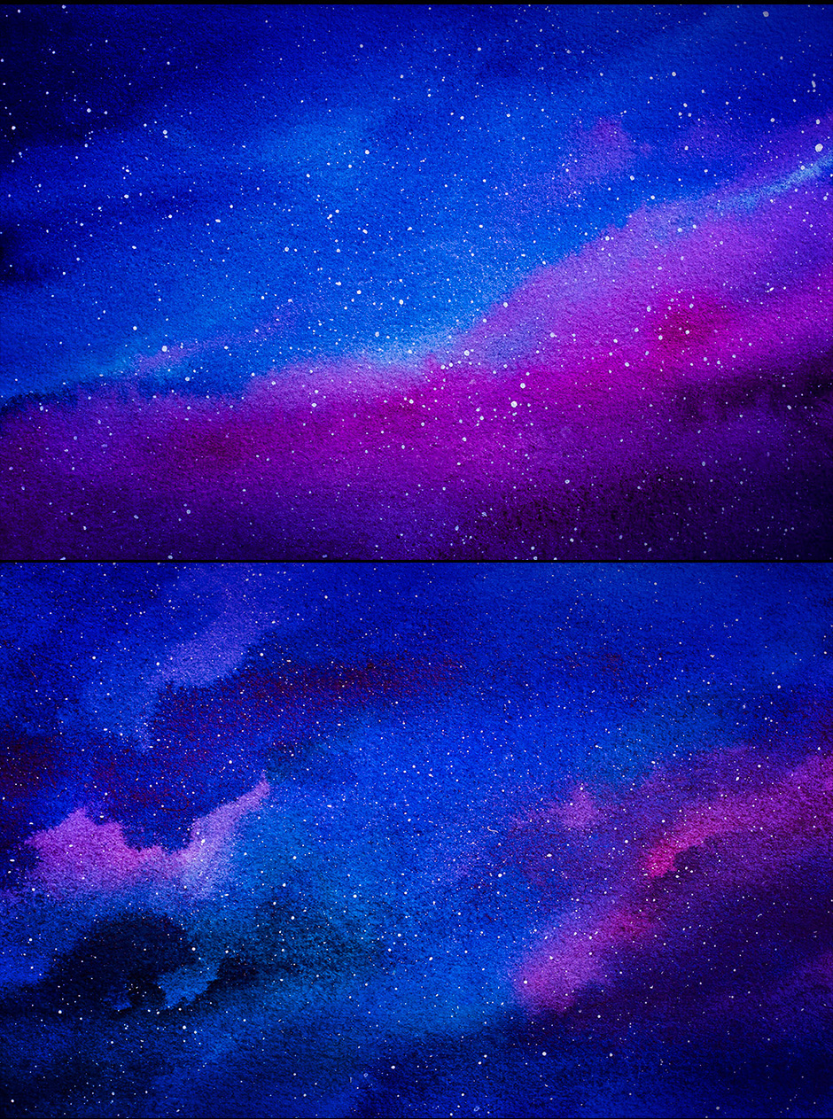 Galaxy Watercolors Illustrations