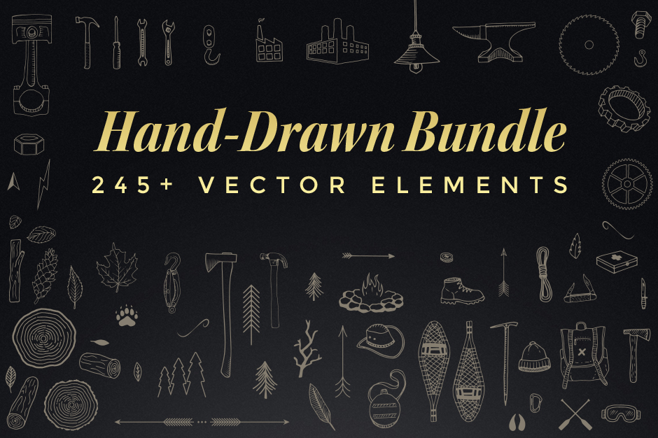 The Hand Drawn Elements Bundle