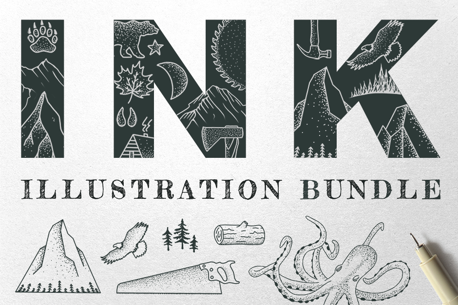 Ink Illustrations Bundle