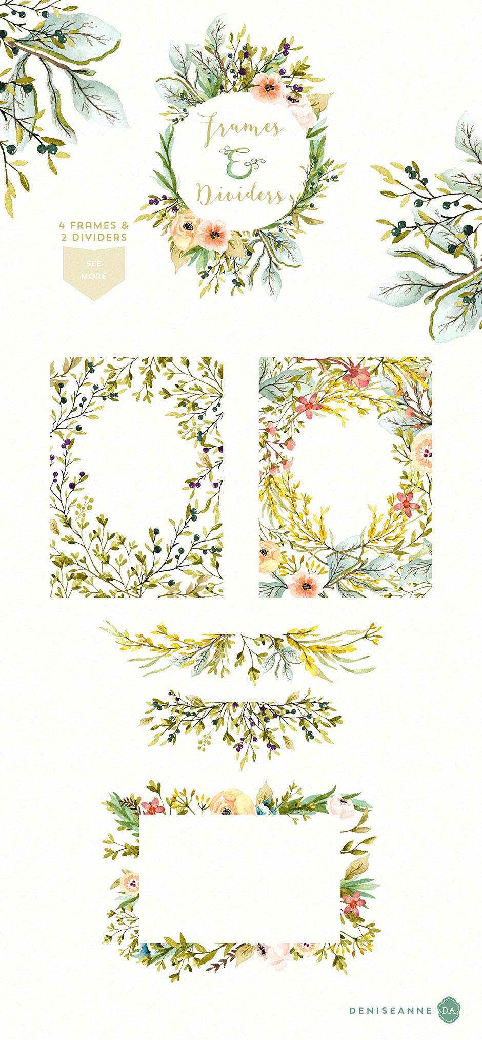 Mountainside Meadows Wildflowers: Floral Illustrations
