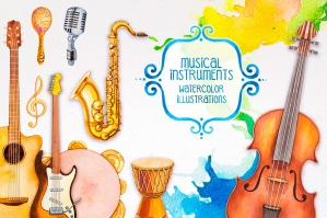 Musical Instrument Illustrations