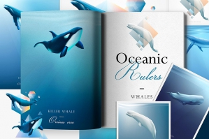 Oceanic Rulers Whale Graphics