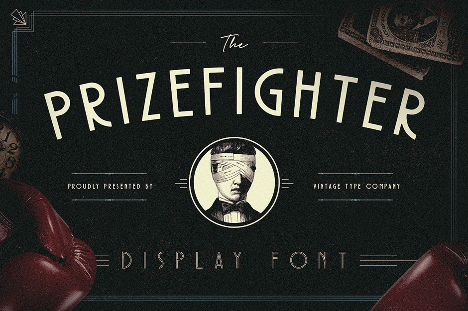 Prizefighter Art Deco Display Font