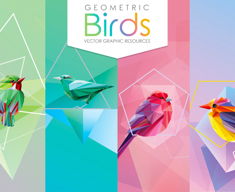 Diana Hlevnjak – Geometric birds collection feature image