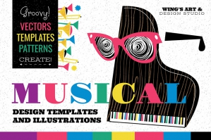 Musical Graphics Design Templates