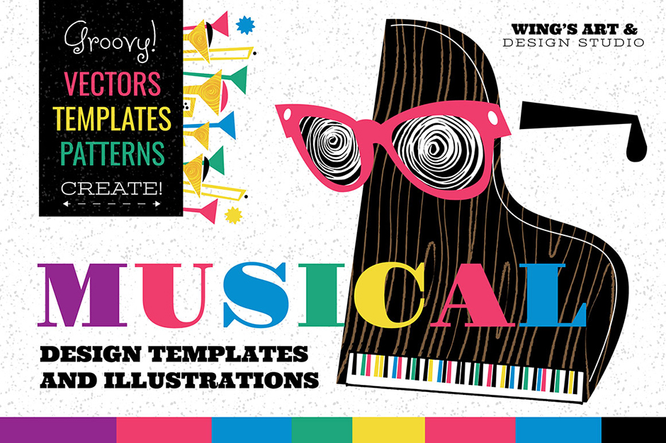 Musical Graphics and Design Templates by Wingsart
