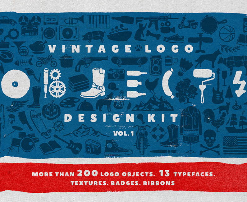 Objects-+-Fonts-Vintage-Logo-Kit-top