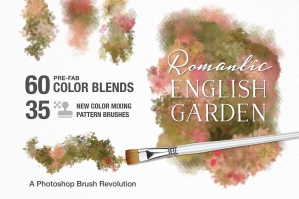 Romantic English Garden PS Color Blend & Mixing Pattern Brushes