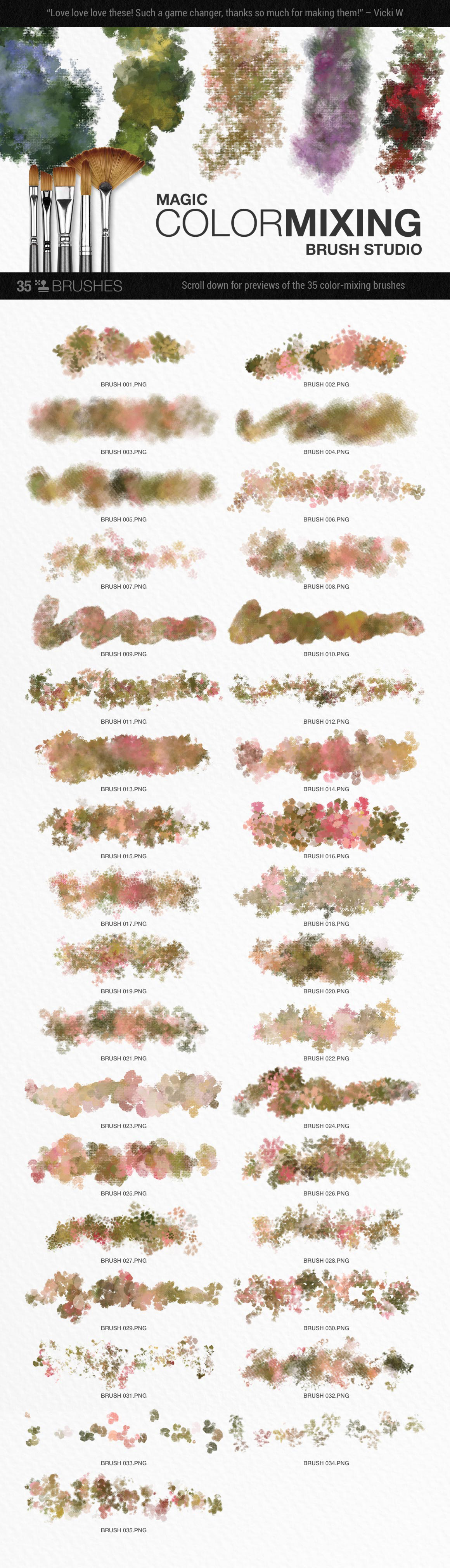 Romantic English Garden PS Color Blend Brushes