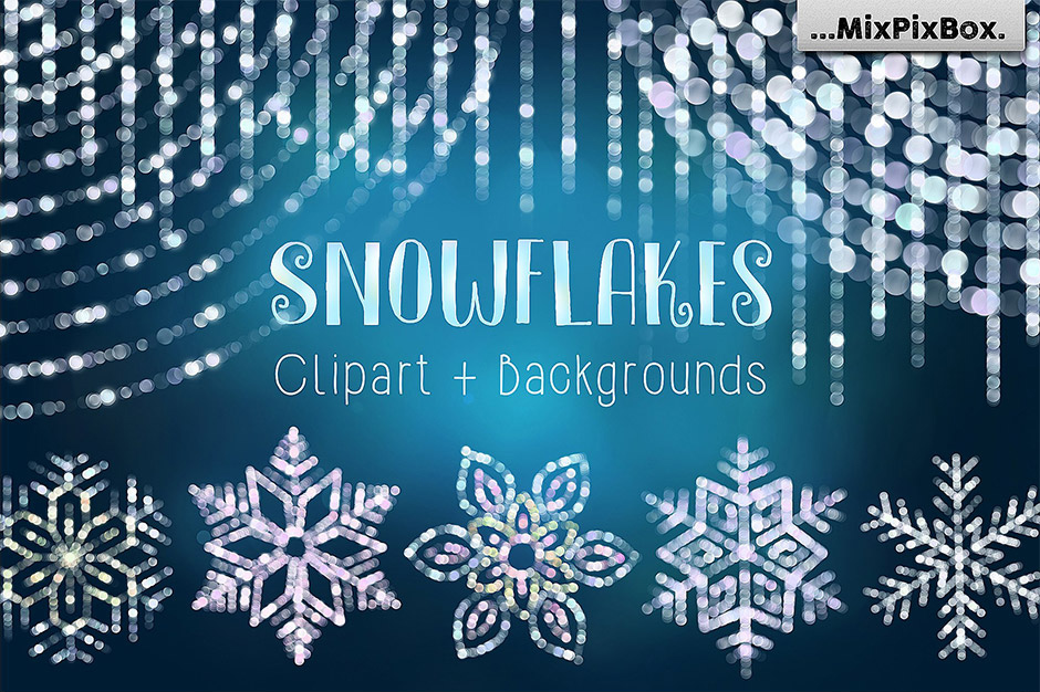 Snowflakes-Clip-Art-&-Backgrounds-main
