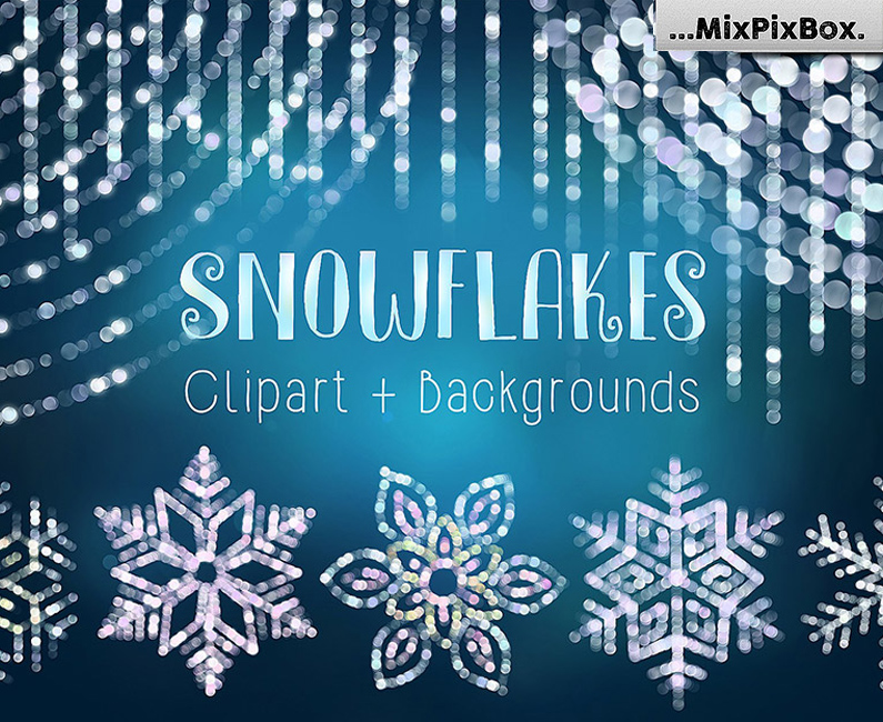 Snowflakes-Clip-Art-&-Backgrounds-top