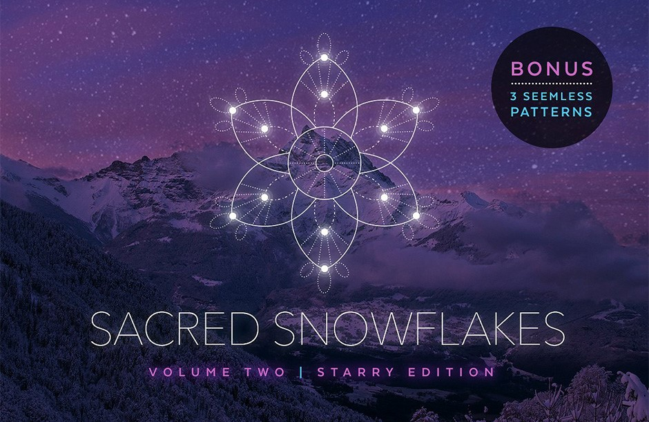 Snowflakes Vector Set Vol. 2-main