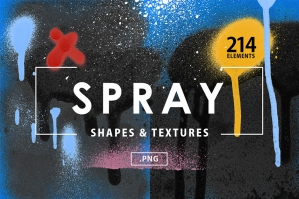 Spray Paint Shapes & Textures