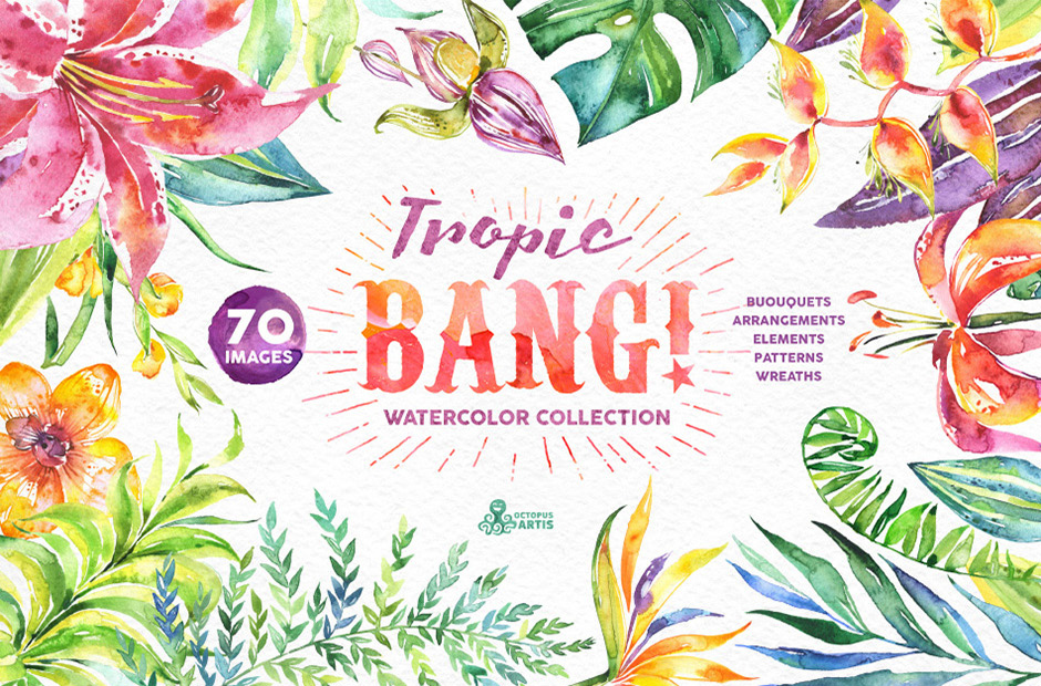 Tropic-Bang-Watercolor-Floral-Illustrations-main