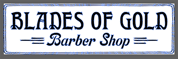 Blades of Gold Barber Shop Flyer