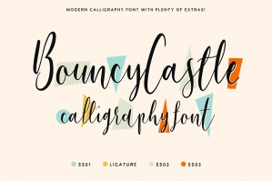 Bouncy Castle Calligraphy Font
