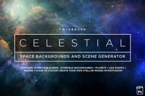 Celestial Space Backgrounds Pack