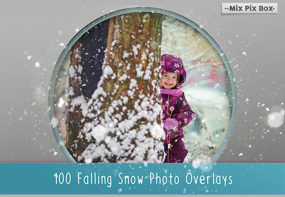100 Snow Photo Overlays