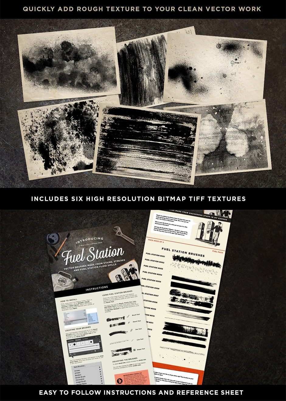 grimy illustrator brushes