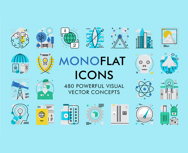 monoflat-icons-top