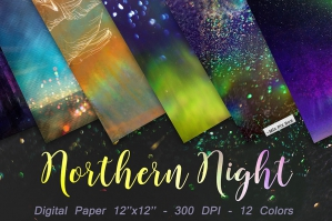 Northern Night Digital Paper
