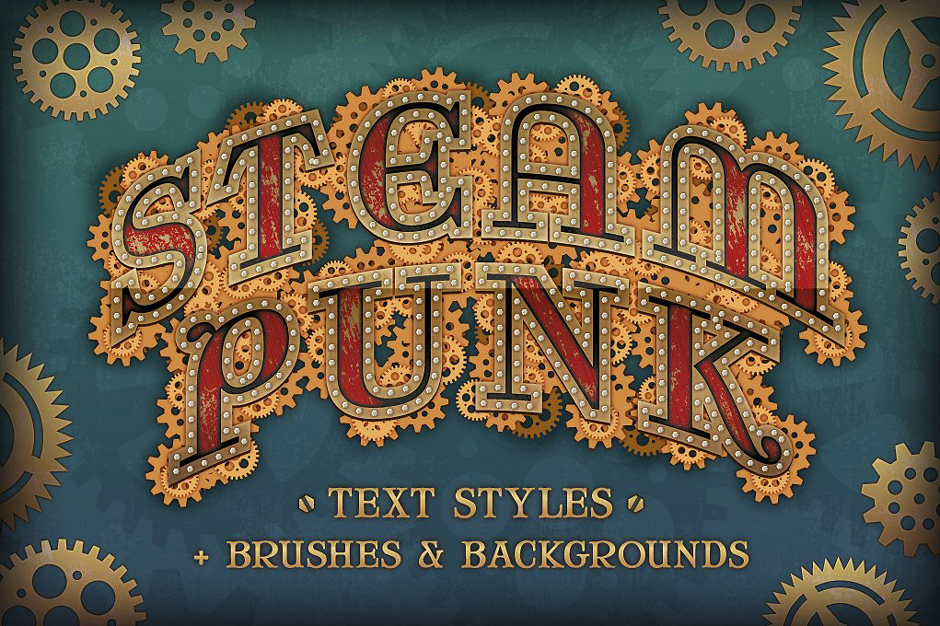 Steam Punk Text Styles