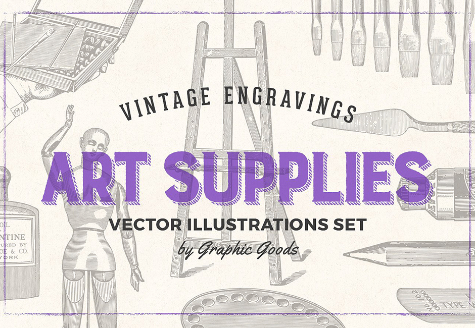 vintage art supplies