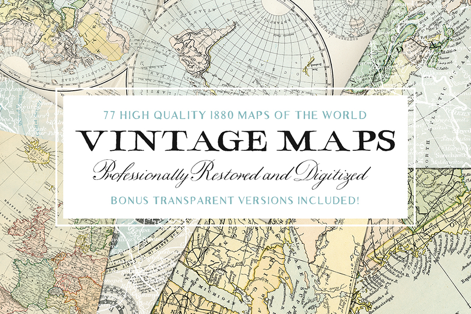 Vintage Maps of the World