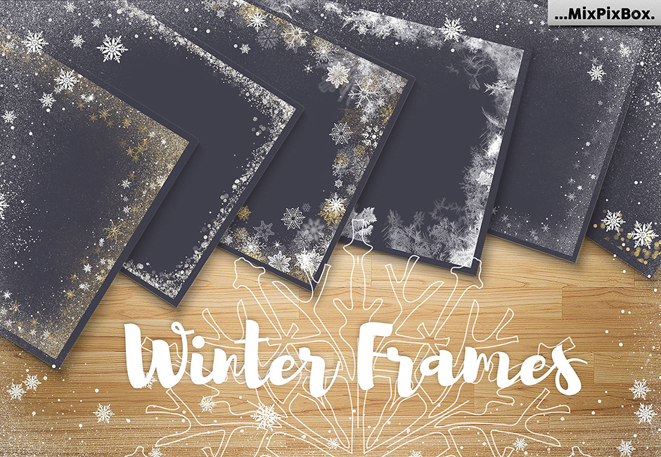 A Big Set of Winter Frames: A Collection Of Winter Themed Frames and ...