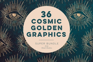 36 Cosmic Gold Foil Graphics