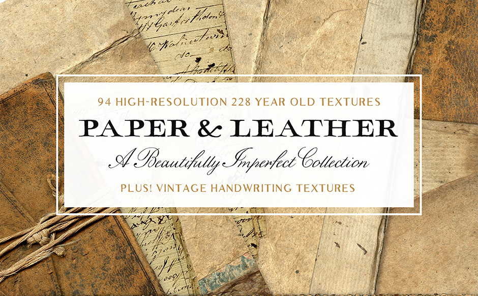 94-Vintage-Leather-&-Vintage-Paper-Textures-main
