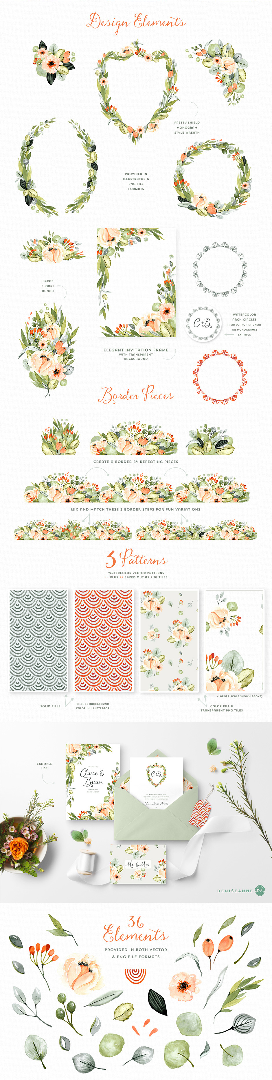 Orchard Park Floral Elements + More!