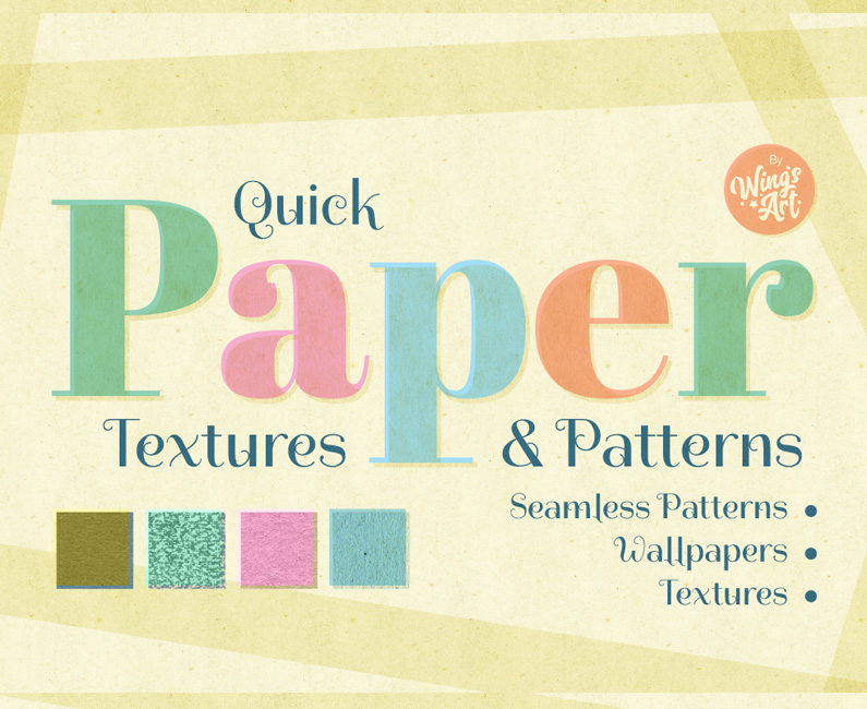 Quick Paper Textures and Patterns by wingsart.net
