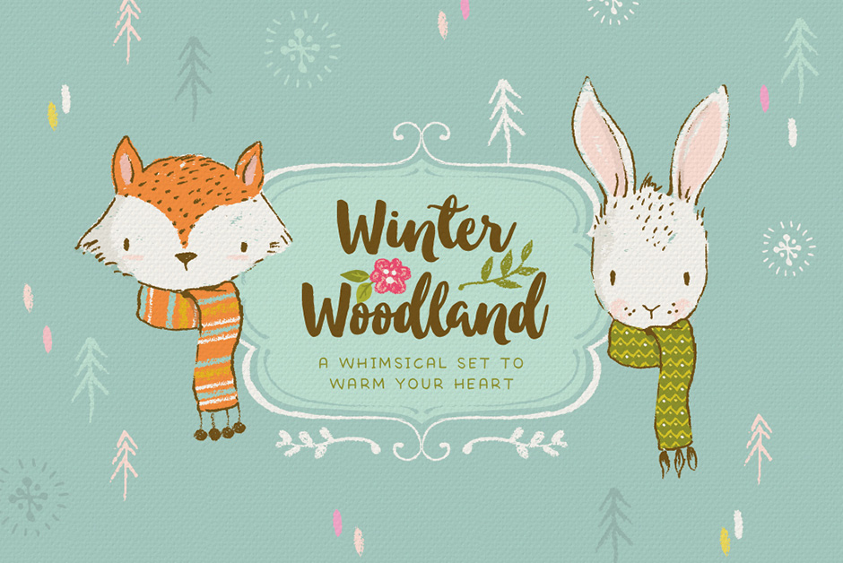 Winter-Woodland-Animal-Illustrations-Mini-Kit-main