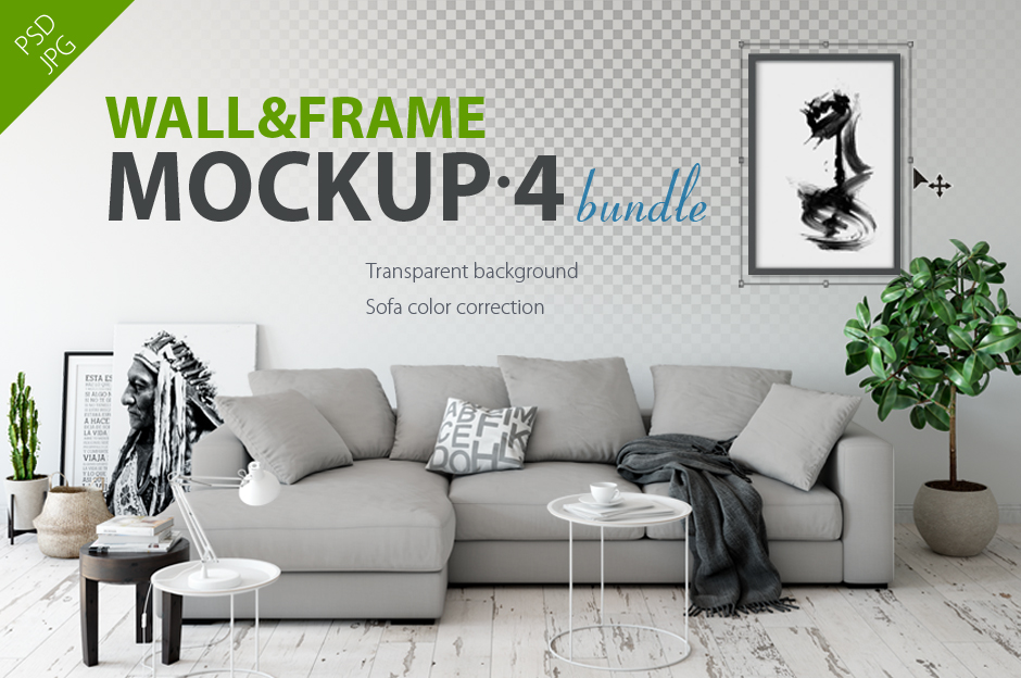 Yuri Usenko – Wall & Frames Mockup – Bundle Vol 4-first-image