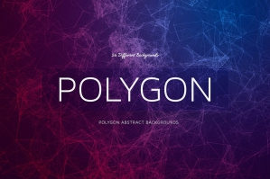 25 Polygon Abstract Backgrounds Line Style