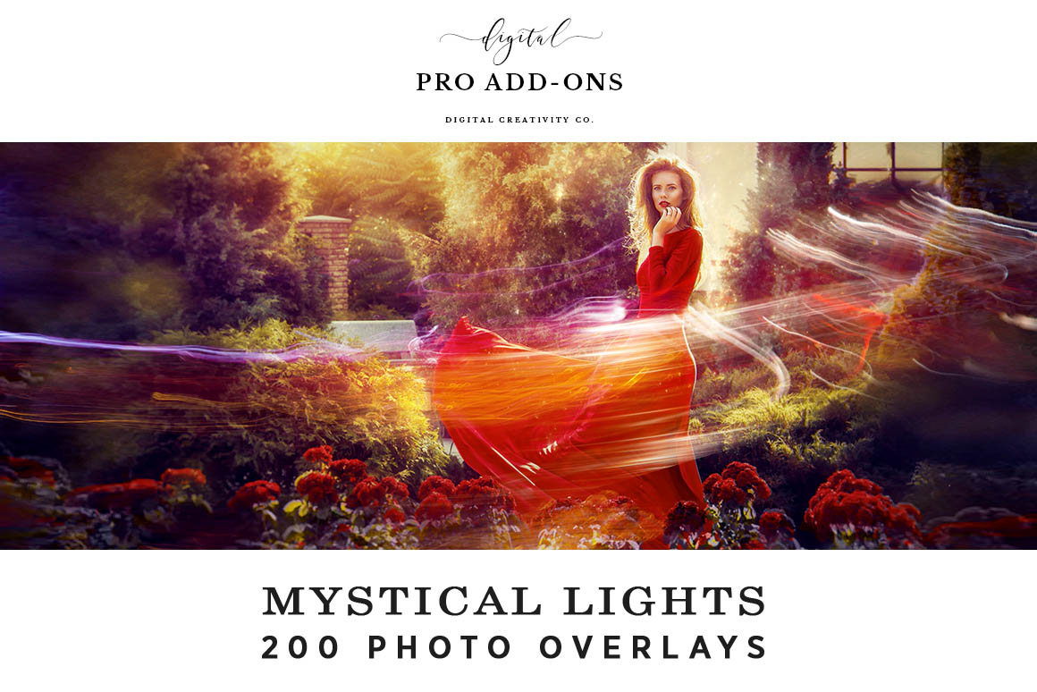 mystical lights photo overlays
