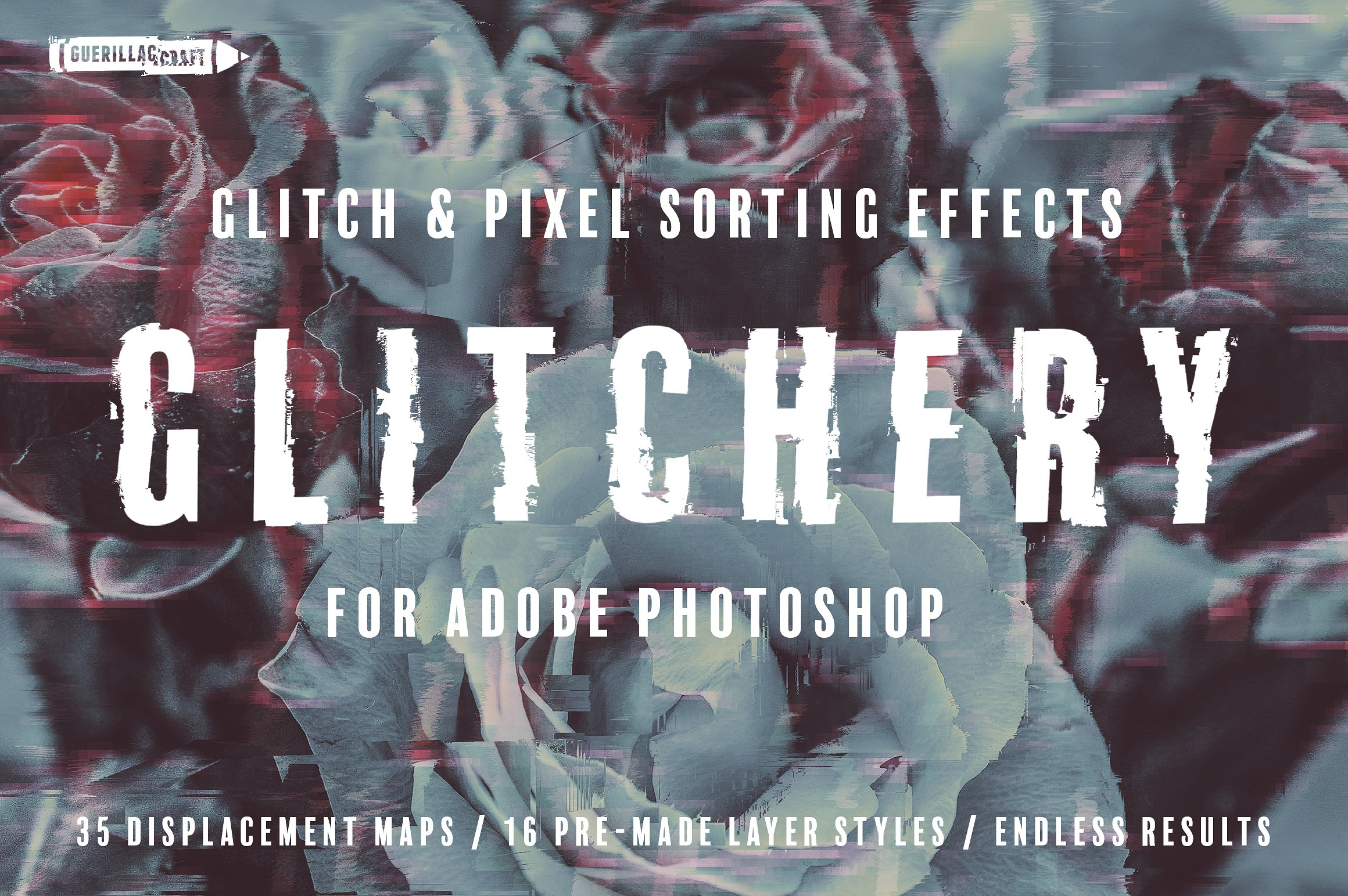 Glitchery for Adobe Photoshop: The Ultimate Tool For Create A Photoshop  Glitch Effect