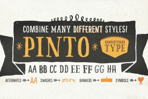 Pinto – A Hand Drawn Font Family
