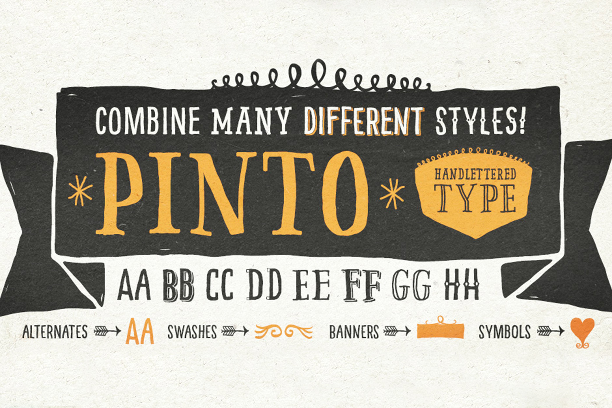 pinto handlettered