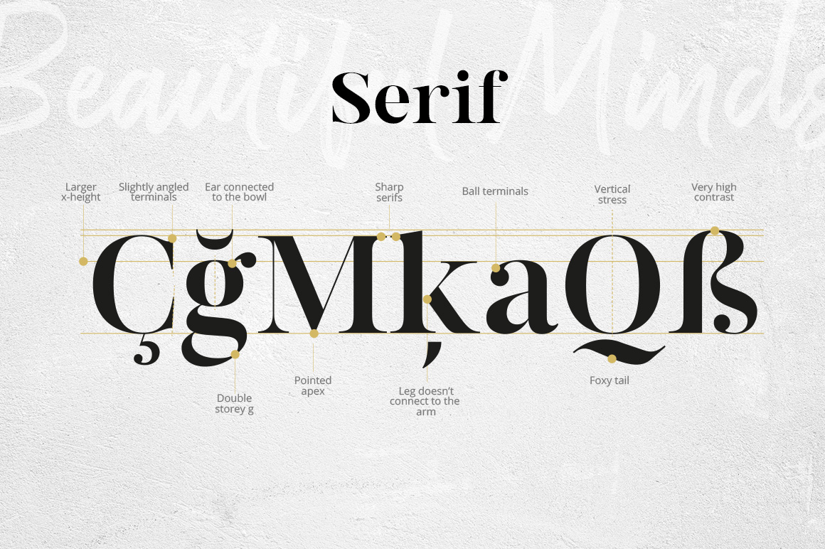Beautiful Minds - A Versatile Font Family
