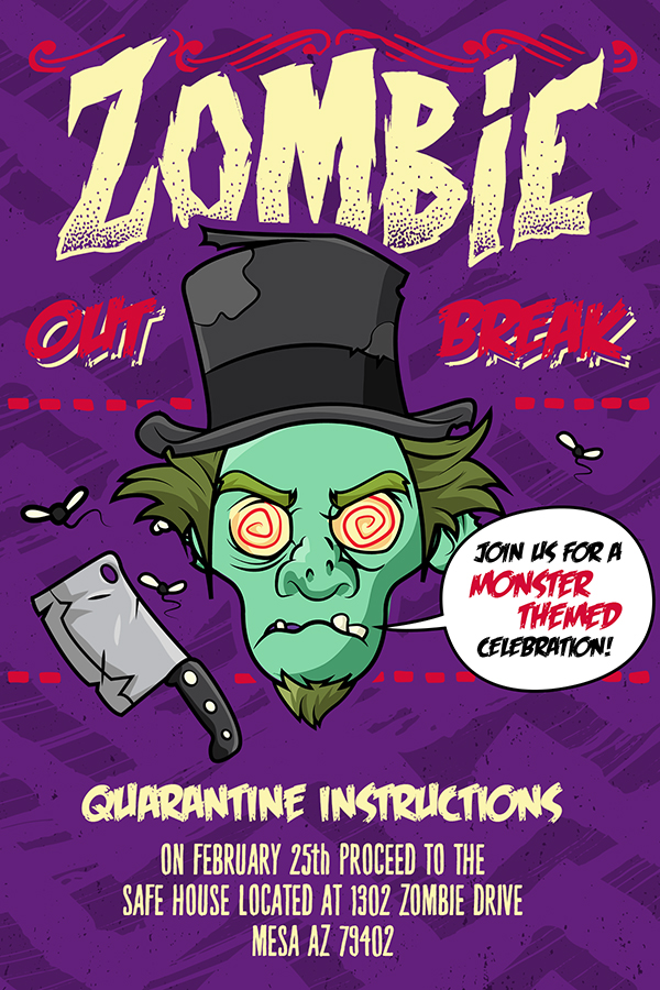Design a Zombie Party Invitation in Photoshop