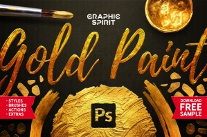 Gold Paint Styles, Effects, Brushes & More!