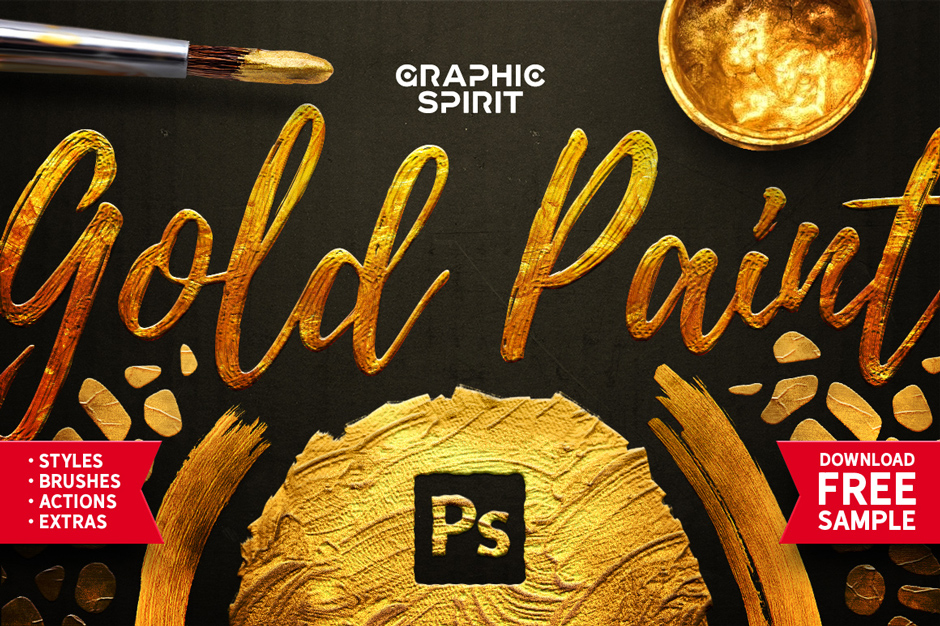 Gold-Paint-Styles,-Effects,-Brushes-&-More!-main