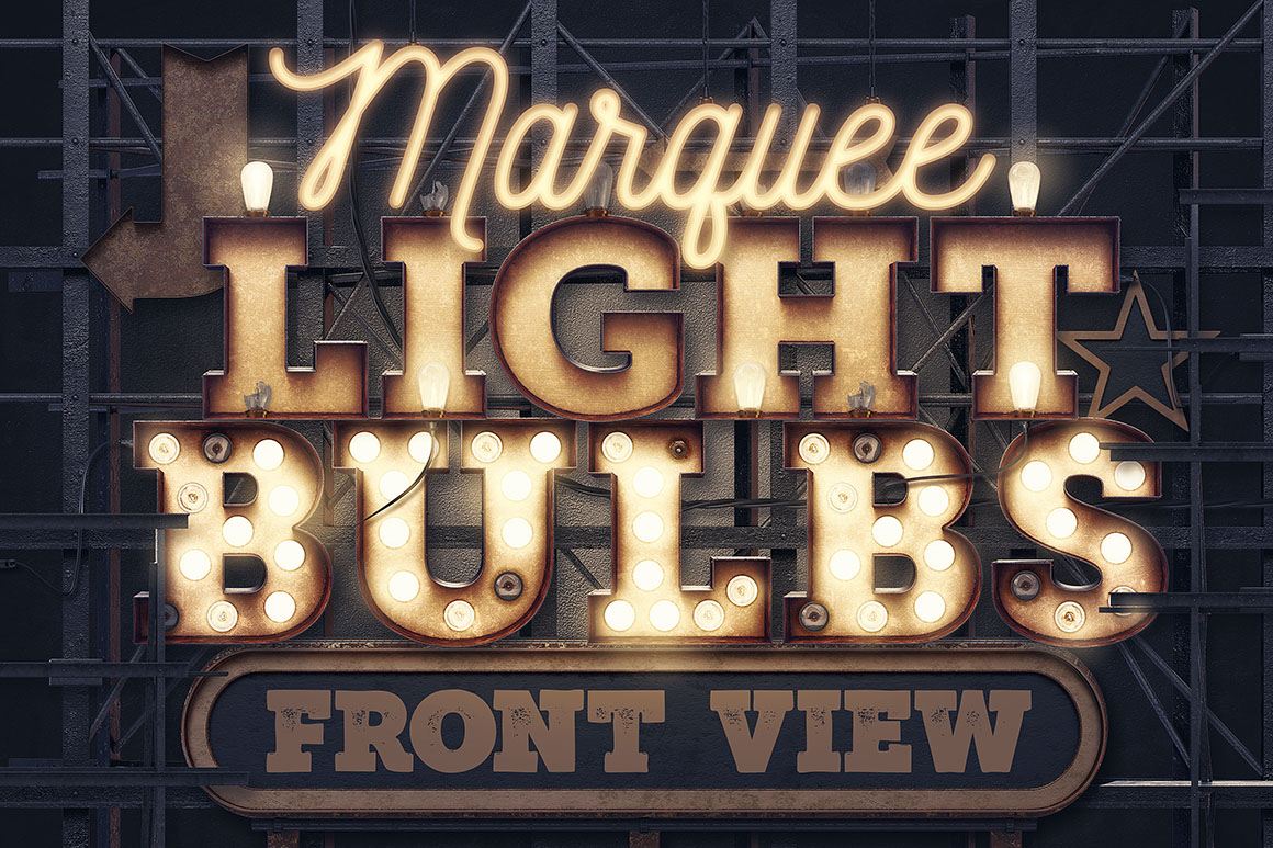Marquee Light Bulbs – Front View