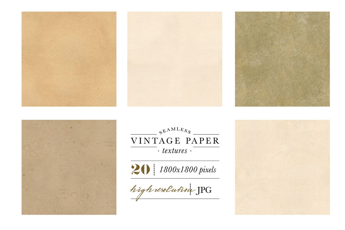 Seamless Vintage Paper Texture Pack