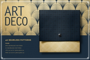 Art Deco Seamless Vector Patterns