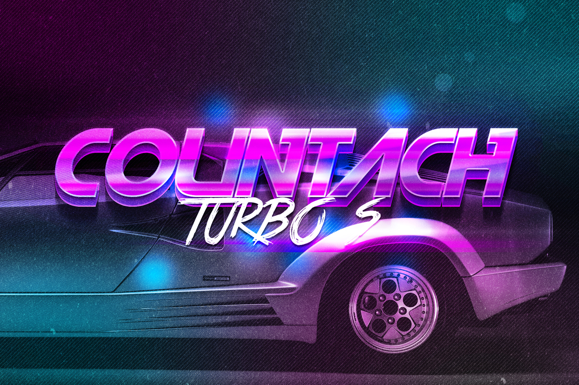 3D 80s Text Effects Vol.2