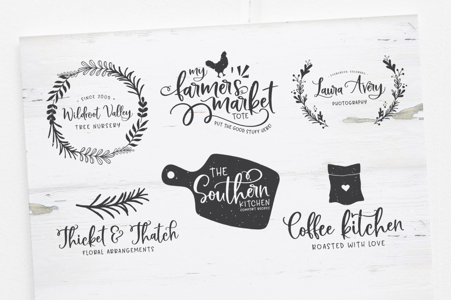 Bushel and Peck Fonts and Logos